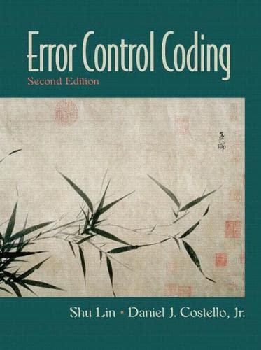 9780130426727: Error Control Coding