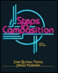 9780130427489: Steps in Composition: 6th