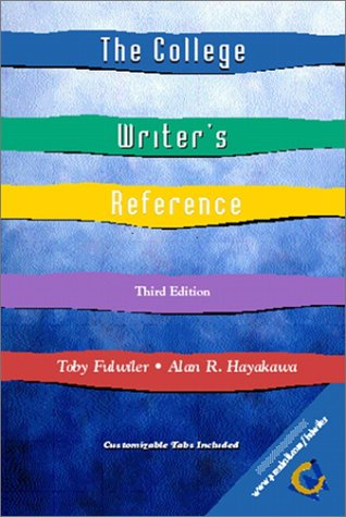 9780130429230: The College Writer's Reference and Companion Website Access Card (3rd Edition)