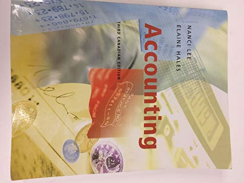 9780130429728: Accounting, Third Canadian Edition (3rd Edition)
