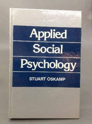 9780130432735: Applied Social Psychology