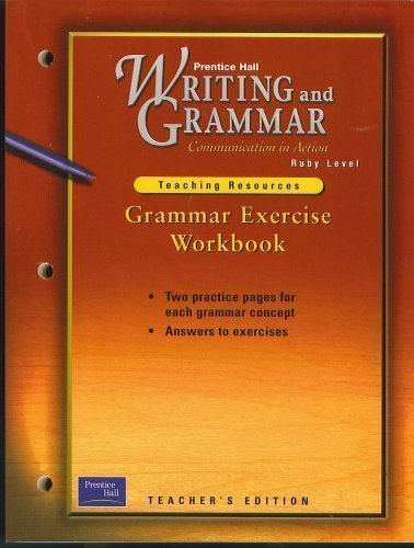 9780130434845: Grammar Exercise Workbook, Teacher's Edition, for Prentice Hall Writing and Grammar Communications i