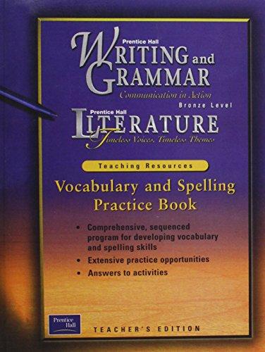 Vocabulary and Spelling Practice Book Bronze Level: Staff of Prentice