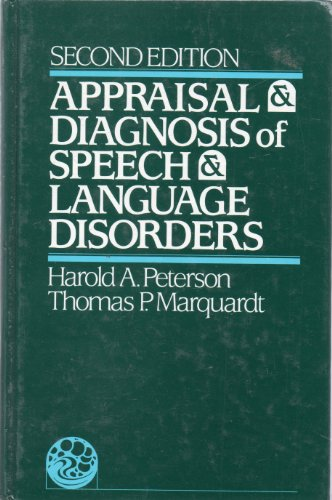 9780130435149: Appraisal and Diagnosis of Speech and Language Disorders