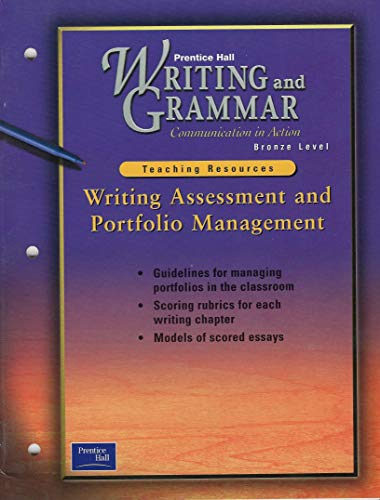 9780130435545: Writing Assessment and Portfolio Management (Writing and Grammar Communications in Action)