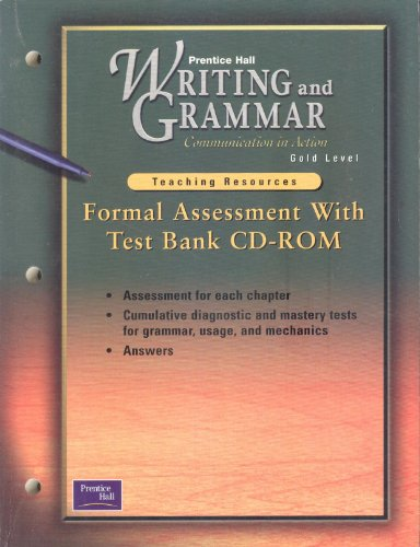 Formal Assessment with Test Bank CD-Rom (Prentice