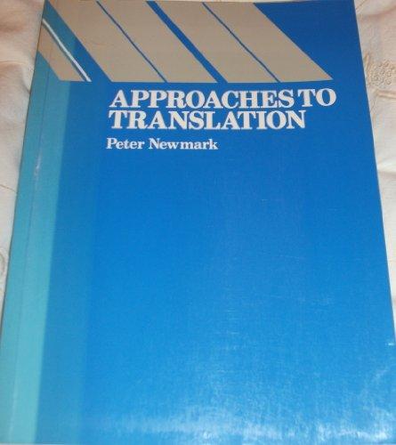 9780130437952: Approaches to Translation (Language teaching methodology series)