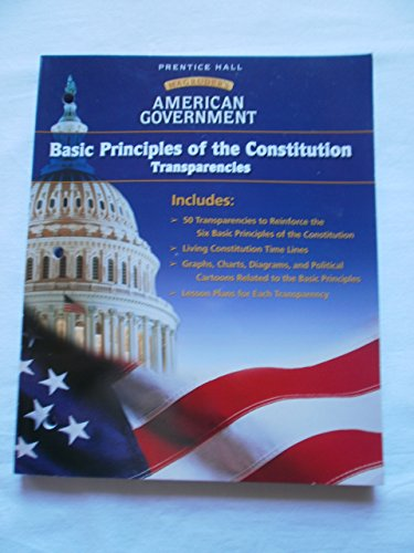 9780130438324: Basic Principles of the Constitution Transparencies (MaGruders American Government)