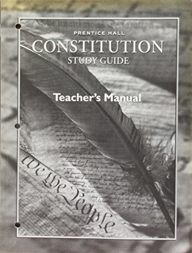 9780130438362: Magruder's American Government Constitution Study Guide Teacher's Manual