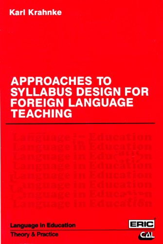 9780130438379: Approaches to Syllabus Design for Foreign Language Teaching (Language in Education) (Center for Applied Linguistics Series) (ELT)