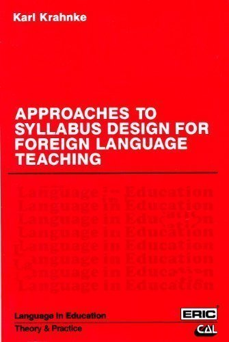 9780130438379: Approaches to Syllabus Design for Foreign Language Teaching (Language in Education)