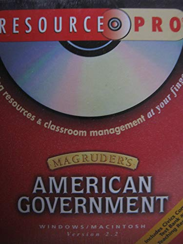 9780130438485: Magruder's American Government Resource Pro CD-ROM Prentice Hall Teaching Resources & Classroom Management