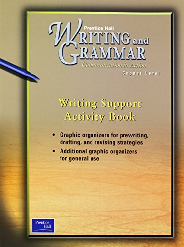 9780130438911: PRENTICE HALL WRITING & GRAMMAR  WRITING SUPPORT ACTIVITY BOOK GRADE 6  2001C FIRST EDITION
