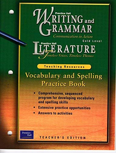 Vocabulary and Spelling Practice Book (Prentice Hall: Prentice Hall