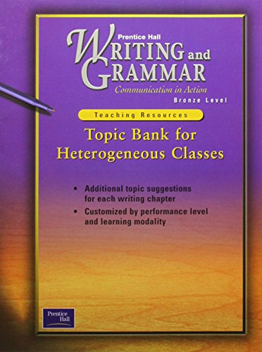9780130439062: Topic Bank for Heterogeneous Classes. Bronze Level (Writing and Grammar)
