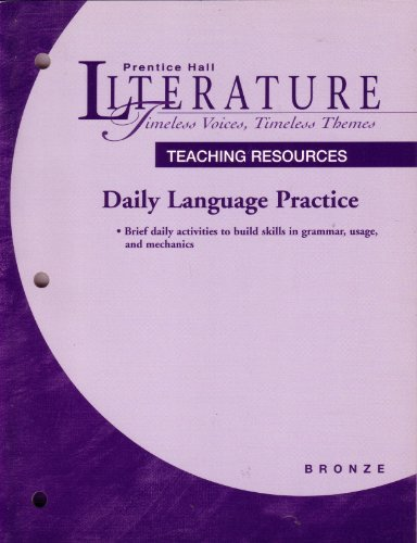 Daily Language Practice Bronze Level (Writing and: Staff of Prentice