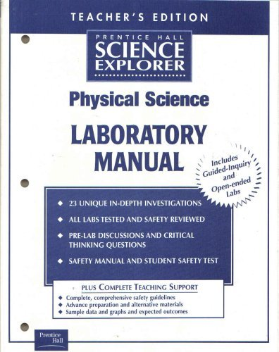 9780130439963: Prentice Hall Science Explorer Physical Science Laboratory Manual, Teacher's Edition