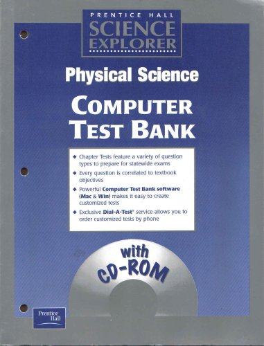Prentice Hall Science Explorer Physical Science Computer Test Bank with CD rom: Hall, Prentice