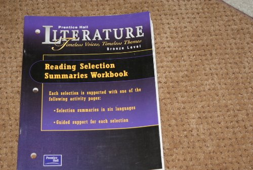PRENTICE HALL LITERATURE:TIMELESS VOICES TIMELESS THEMES READING: PRENTICE HALL
