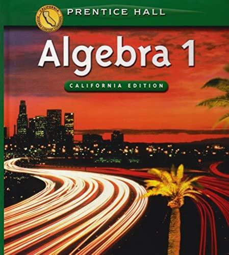 9780130442635: Algebra 1 (California Edition)