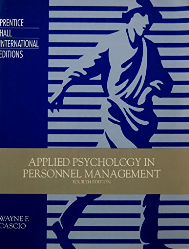 9780130442642: Applied Psychology in Personnel Management