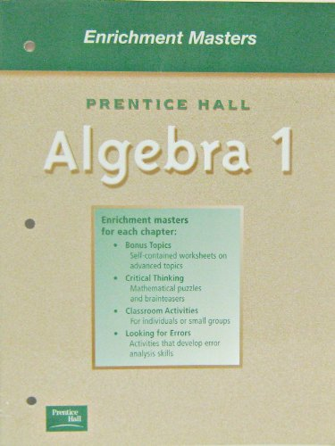 9780130443939: ALGEBRA 1 5TH EDITION (SMITH) ENRICHMENT MASTERS 2001C