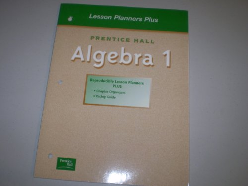 IAlgrbra 1 - Lesson Planners Plus: Not Listed