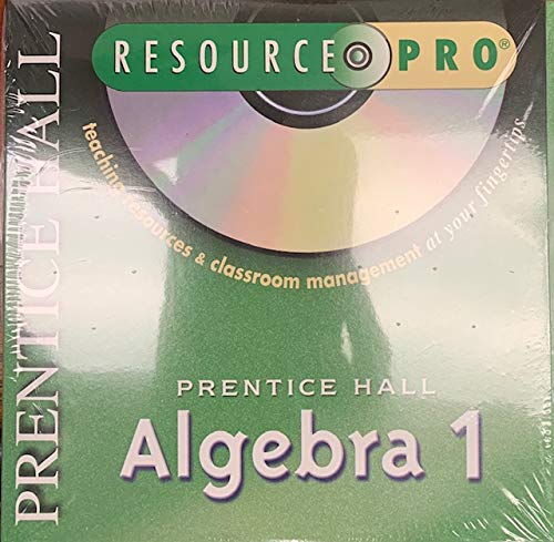 9780130444004: Prentice Hall Algebra 1 Resource Pro