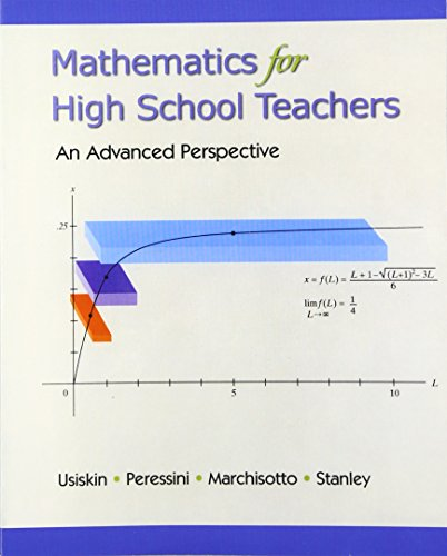 9780130449412: Mathematics for High School Teachers- An Advanced Perspective