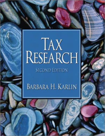 9780130449481: Tax Research