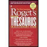 The New American Roget's College Thesaurus in: Albert H. Morehead,