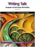 9780130452702: Writing Talk: Paragraphs and Short Essays with Readings (Instructor's Edition)