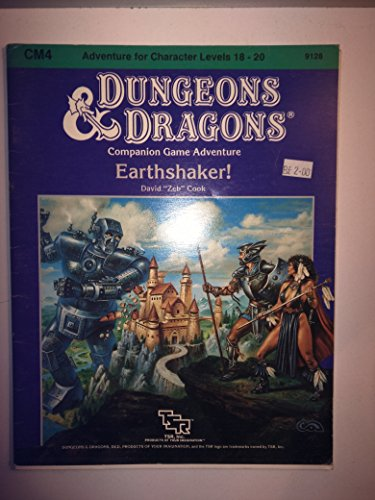 9780130452887: Advanced Dungeons & Dragons Companion Game Adventure CM4 Earthshaker!