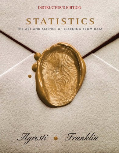 9780130455369: Statistics: The Art and Science of Learning from Data. INSTRUCTOR'S EDITION