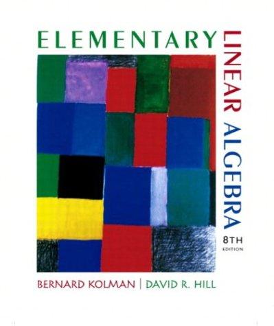 9780130457875: Elementary Linear Algebra (8th Edition)