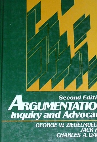 9780130460387: Argumentation: Inquiry and Advocacy
