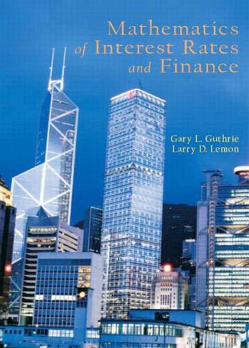 9780130461827: Mathematics of Interest Rates and Finance