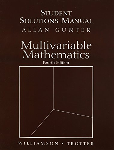 9780130461926: students Solutions Manual for Multivariable Mathematics