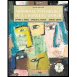 9780130463838: Abnormal Psychology in a Changing World, Fourth Edition