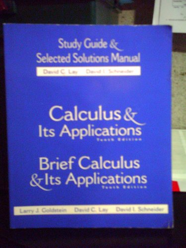 9780130466228: Study Guide and Selected Solutions with Visual Calculus
