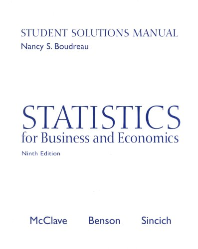 9780130466426: Statistics for Business and Economics Student Solutions Manual