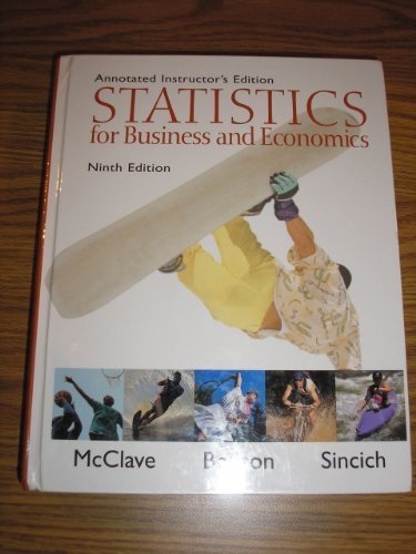 9780130466433: Statistics for Business and Economics