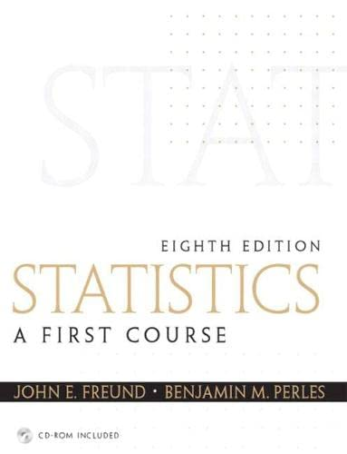 9780130466532: Statistics: A First Course (8th Edition)