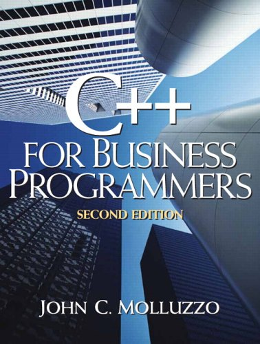 9780130467003: C++ for Business Programming