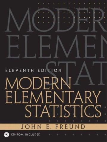 9780130467171: Modern Elementary Statistics, 11th Edition
