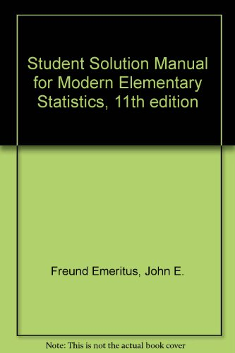 9780130467218: Student Solution Manual
