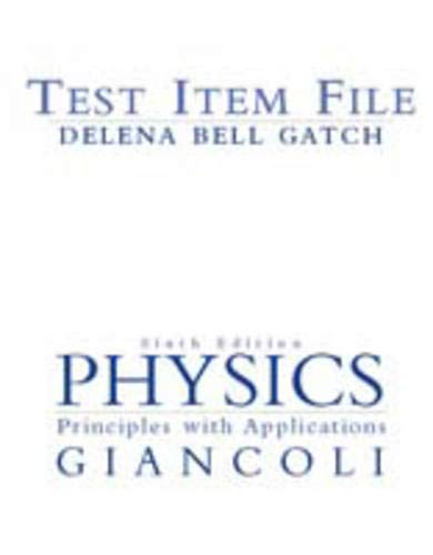 9780130473110: Physics: Principles with Applications Test Item File