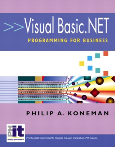 9780130473684: Visual Basic.Net Programming for Business