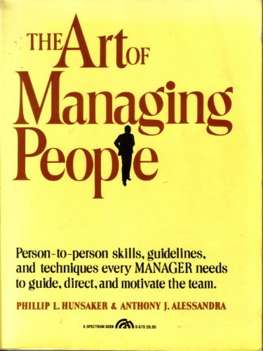 9780130474643: The Art of Managing People