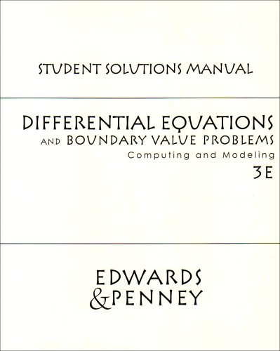 9780130475794: Differential Equations and Boundary Value Problems: Student Solutions Manual